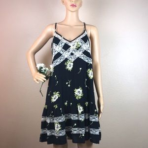 Anthropologie Entro Floral Lace Boho Dress Anthro